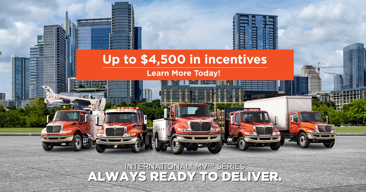 Up to $4,500 in incentives on International MV series